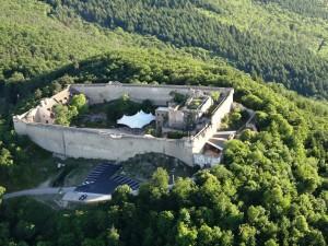 Vue aérienne Château du Hohlandsbourg ©patricklegall (Châteaux avec le Pass'Alsace - Alsace 2017)