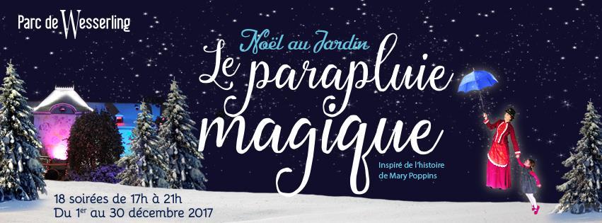 Affiche Wesserling - Noël au Jardin 2017