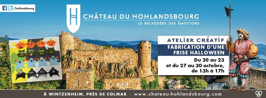 Château du Hohlandsbourg - fabrication d'une frise Halloween 2020