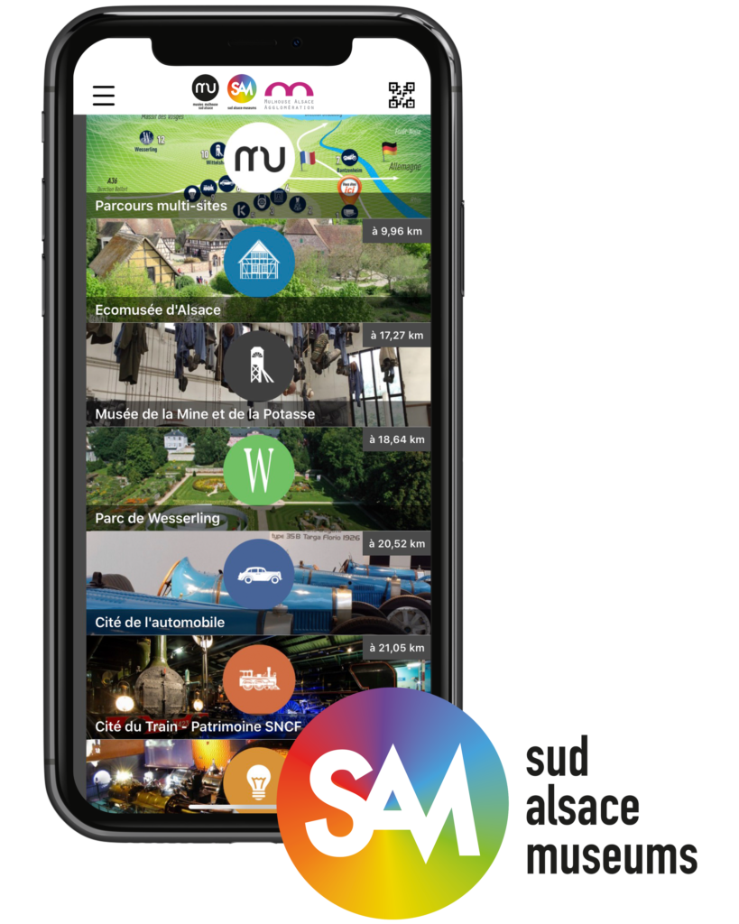 Application de visite des musées de l'agglomération mulhousienne SAM!