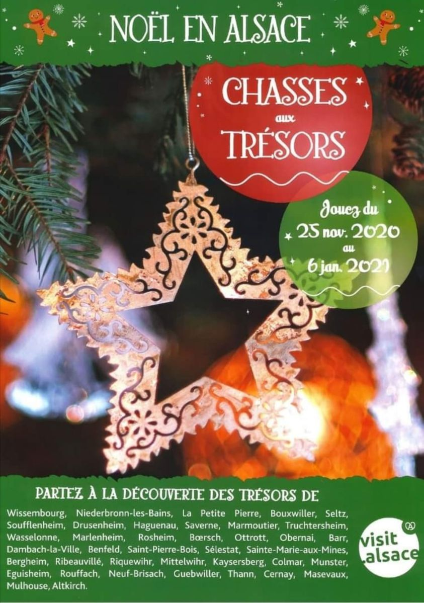 Chasses aux trésors de Noël - Offices de Tourisme Alsace 2020